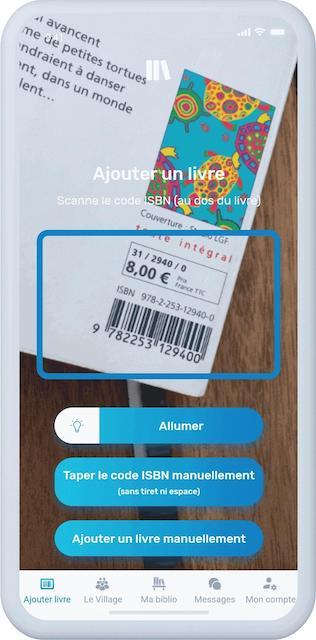 application pour acheter des livres d'occasion - scanner