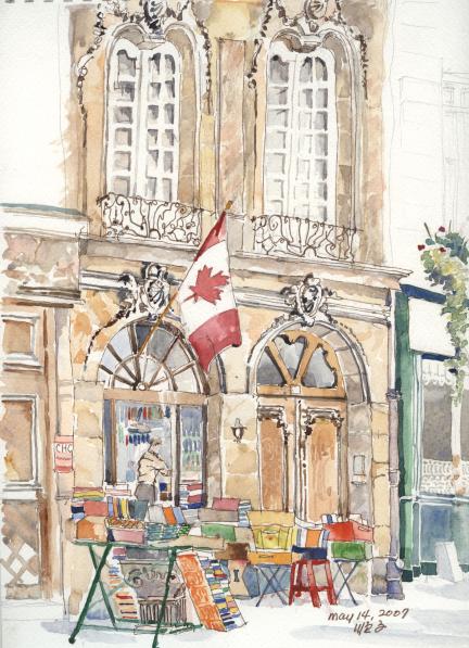 Abbey Bookshop - illustration de Junko Benjamin