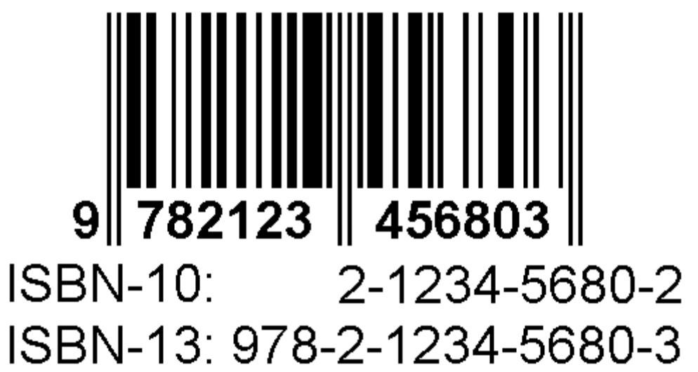 les formats du numéro ISBN en 10 chiffres et 13 chiffres